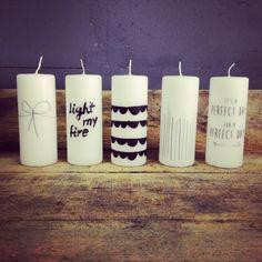 Rustik lys kaarsen. www.towntje.nl