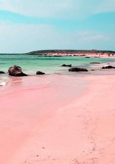 Pink Sand Beach, Bahamas - Travel. GEORGE, this has gotta be your next surprise vacation for my sister!!