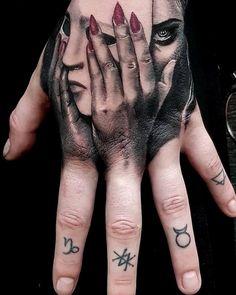 Hand Tattoos for Guys Ideas Design Unique Hand Tattoos, Full Hand Tattoo, Hand Tattoos For Women, Hand Tats, Back Tattoo, Bone Hand Tattoo, Side Hand Tattoos, Gangsta Tattoos, Dope Tattoos