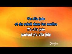 Karaoké Y'a d'la joie - Charles Trenet * - YouTube