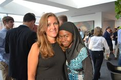 Wow, we have fantastic interns! Caitlin and Aisha pause for a photo before continuing to work behind-the-scenes.  #WIMdemo