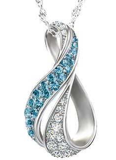 Blue and white diamond infinity necklace - so want this!