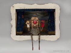Lectio De Bono Et Malo - arcilla polimérica, madera, escultura hecha a mano, arte.