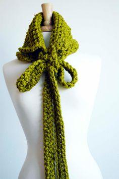 Infinity Scarf, Cowl, Scarf, Collar (The Prairie Cowl in Lemongrass - green). $48.00, via Etsy.