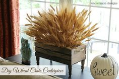 Create this gorgeous Wheat Crate Centerpiece with this step by step tutorial from Uncommon Designs. A perfect fall decor accent for your home.