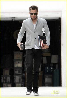 Chris Pine-cuz every girl's crazy 'bout a sharp dressed man