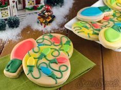 Glowing Christmas Light Cookies by Semi Sweet Designs