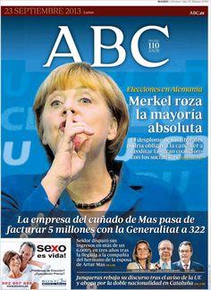 Los Titulares y Portadas de Noticias Destacadas Españolas del 23 de Septiembre de 2013 del Diario ABC ¿Que le pareció esta Portada de este Diario Español?