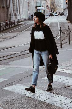 #streetstyle #fashion #ootd #hiver1718 #ootd1718 #beret #vintage