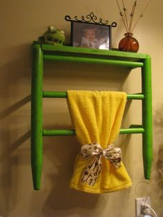 Old Chair Shelf By Kamdensgifts On Etsy Towel Racks, Old Chairs, Bathroom  Ideas,