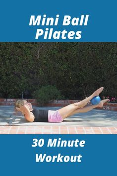 30 minute full body pilates workout video with the mini stability ball. Pilates Workout Routine, Pop Pilates, 30 Minute Workout, Fun Exercises, Fitness Exercises, Yoga Fitness, Ball Workouts, Fun Workouts, At Home Workouts