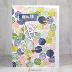 Kartenwind: Aufmunterungskarte Dankeschön Karte mit dem danipeuss Kartenkit und KesiArt Metaliks Dies