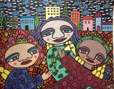 Naive Art : By Karin Dempsey Greenwood : Mixed Media : Canvas Board : Vibrant Colors, Colours, Different Media, Canvas Board, Naive Art, Luigi, A4, Mixed Media, Fictional Characters