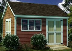 12x16 Shed Plans- How To Build Guide - Step By Step - Garden / Utility / Storage