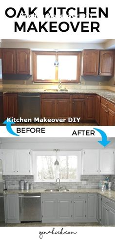 DIY Kitchen Makeover Ideas - Oak Kitchen Makeover - Cheap Projects Projects You . DIY Kitchen Makeover Ideas - Oak Kitchen Makeover - Cheap Projects Projects You Can Make On A Budget - Cabinets, Counter. Kitchen Decorating, Decorating Ideas, Interior Decorating, Decorating Websites, Cheap Kitchen Makeover, Small Kitchen Makeovers, Small Kitchen Redo, Kitchen Facelift, Narrow Kitchen