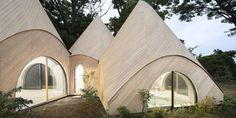 World Architecture Community News - Issei Suma completes a series of wooden-tent structures for Japan's local community Shizuoka, Casa Dos Hobbits, Fairytale House, Forest House, Japanese House, Glamping, Modern Architecture, Tiny House, Beautiful Homes