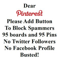FYI - I do NOT use Facebook and NOT interested in it. I had to get a Twitter account to log on to Pinterest.  I do NOT send Tweet messages and I do NOT want to receive them either. I do NOT have a profile photo - don't know how to add one. Who wants to look at another old lady? I simply want to pin things to MY boards.  It would be nice if I could post comments on MY pins and also comment on other pins when they ask for more information - or post erroneous information in the description.