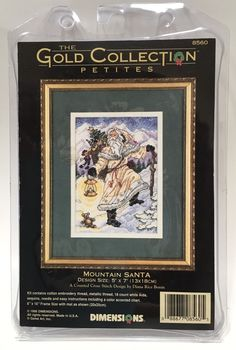 Dimensions Gold Collection Petites Mountain Santa Christmas Cross Stitch Kit #Dimensions #Sampler
