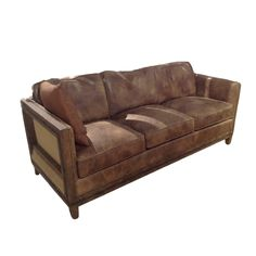 The smoky top-grain leather might be the Colborne Sofa's defining feature, but let's not overlook the solid wood frame and nailhead trim. It all comes together to create something rich, luxurious, and ...  Find the Colborne Sofa, as seen in the #PerfectlyDistressed Collection at http://dotandbo.com/collections/perfectlydistressed?utm_source=pinterest&utm_medium=organic&db_sku=115346