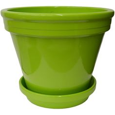 "Made from the highest quality terracotta, this durable standard pot and matching saucer features a perfectly smooth and consistent powder coated finish and can hold an 8"" grower pot."