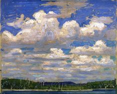 Summer Day, 1915 by Tom Thomson on Curiator, the world's biggest collaborative art collection. Emily Carr, Canadian Painters, Canadian Artists, Landscape Art, Landscape Paintings, Landscapes, Creative Landscape, Impressionist Paintings, Group Of Seven Art