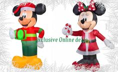 Minnie Mouse Mickey Mouse Inflatable Mickey Blow Up Christmas Yard Decoration #GemmyAirblown
