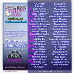 Do you have your tickets and room yet? Don't miss the signing where there is little or no lines and time to meet and hang out with EVERY author! wickedbookevents.com