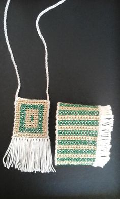 Crochet and cross-stitch bracelet and pendant.In the shop of  Macedonian Museum of Contemporary Art