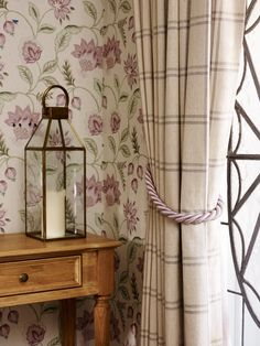 Find sophisticated detail in every Laura Ashley collection - home furnishings, children's room decor, and women, girls & men's fashion. Laura Ashley Art, Laura Ashley Bedroom, Laura Ashley Curtains, Country Cottage Interiors, Cottage Chic, Tartan Curtains, Curtains With Blinds, Home And Deco, Colour Schemes