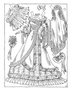 360 best bridal gown patterns images in 2019 gown pattern bridal 1950s Bridal Gowns victorian bride 1868 victorian bride victorian crafts printable coloring pages adult coloring pages