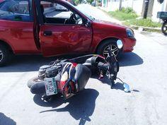 Menor al volante ocasiona accidente en Progreso