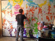 "Alex ""Runt"" Currie - 28′ mural for Aurora Montessori School"