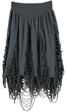 black cut out skirt <3