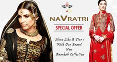 Make This Navratri Special By shopping Designer Anarkali suits.. Click to check Out : http://hytrend.com/sale/navratri-special.html?brands=708