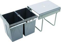 Kosz na śmieci ułatwiający segregowanie śmieci w kuchni