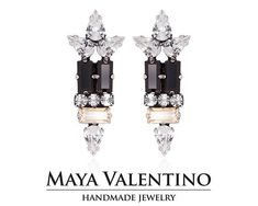 Swarovski earring big earring silver earring designer #Swarovski #Earrings #Prom #Handmadegifts #Forher #Jewelry #Cocktail #Style #Fashion #Trends #Unique #Statement #Sparkling #Women #Gorgeous #Bestfriend #Gifts #Etsy #Elegant