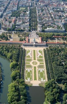 Schloss Charlottenburg in Berlin. The old palace was built by Friedrich I, the first King in Prussia, and named after his wife, Sophie Charlotte.