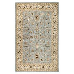"""Handmade and eco-friendly wool and cotton rug with an Oriental-inspired motif.  Product: RugConstruction Material: Wool and cottonColor: Sea foamFeatures:  0.63"""" Pile heightHandmade  Note: Please be aware that actual colors may vary from those shown on your screen. Accent rugs may also not show the entire pattern that the corresponding area rugs have."""