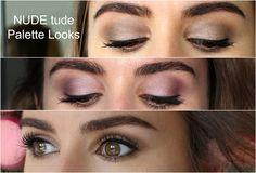 the Balm Cosmetics - Nude Tude Palette Eyeshadow looks