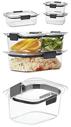 Rubbermaid Brilliance Food Storage Container Set 22 Piece Clear Simple Sectioned Lunch Containersmeal Prep Containers 3Compartment Lunch Inspiration