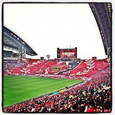 VS SANFRECCE Hiroshima (2-0)win  2012.11.17  Photo by kavaomenthol Urawa Red Diamonds, Urawa Reds, Baseball Field, Football, Logos, Instagram Posts, Sports, Life, Logo