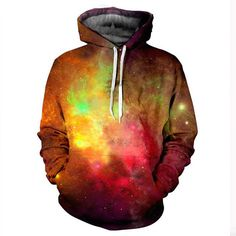 Galaxy Hoodie By Yo Vogue Clothing - Front and back all over printed shirts, t-shirts, sweatshirts, hoodies, zip ups, sweater and more.