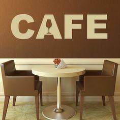Наклейка для дома от 2stick.ru Надпись кафе cafe