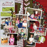 Kit: Letters for Santa by Fit 2 Be Scrapped Template: Scrap By Numbers 11 by AKDesigns