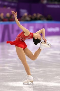 Mirai Nagasu of the United States competes in the Figure Skating Team Event – Ladies' Single Free Skating on day three of the PyeongChang 2018 Winter Olympic Games at Gangneung Ice Arena on February 12, 2018 in Gangneung, South Korea. - Figure Skating - Winter Olympics Day 3