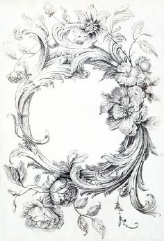 The Sum Of All Crafts: Scrollwork Frame Vintage Frame Tattoo, Vintage Frames, Vintage Prints, Cameo Tattoo, Diy Tattoo, Tattoo Gato, Motif Baroque, Ornament Drawing, Porcelain Jewelry