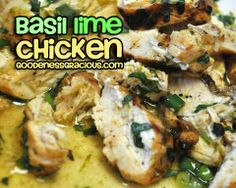 Basil Lime Chicken- The most flavorful chicken breast you will ever taste!