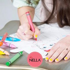 Spend the day with them colouring in our Miss Nella 6 pack  #missnella #childrensnailpolish #colouring #fashion #children