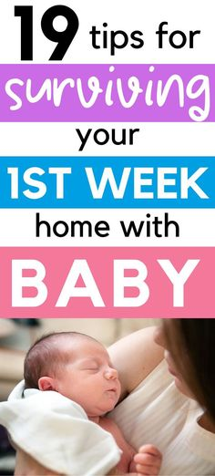 Bringing a newborn baby home for the first week can be overwhelming for new parents. Here are 19 tips for surviving the first week with baby. Baby First Week, First Time Moms, New Parents, New Moms, Baby Hacks, Baby Tips, Breastfeeding Classes, Newborn Schedule, Preparing For Baby