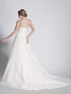 - A-Line Sweetheart Organza Wedding Dress - Ophelia Contessa White on White White Wedding Dresses, One Shoulder Wedding Dress, Collection, Fashion, Moda, Fasion, White Wedding Cakes, White Prom Dresses, Trendy Fashion